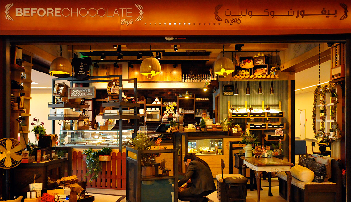 BEFORE CHOCOLATE CAFE'